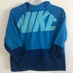 Nike Dri-Fit Baby Blue Pullover Hoodie for Boys
